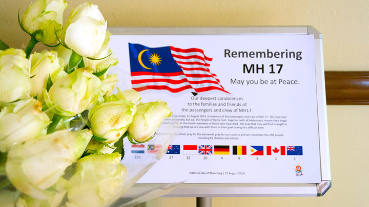 Remembering MH17 May you be at Peace