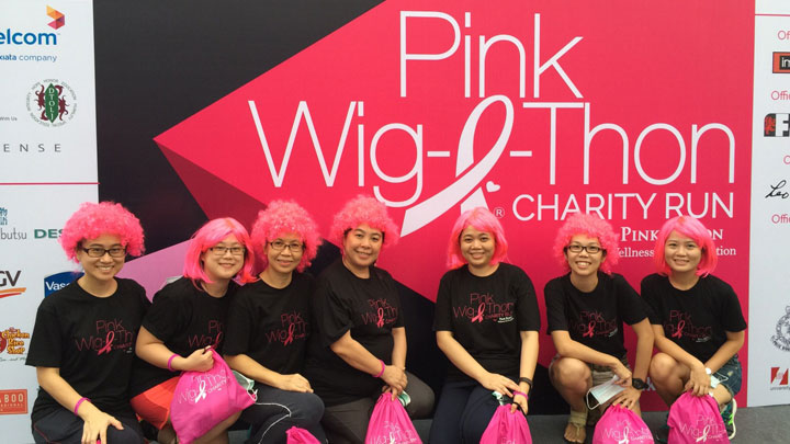 September Sunday Pink Wig-a-thon